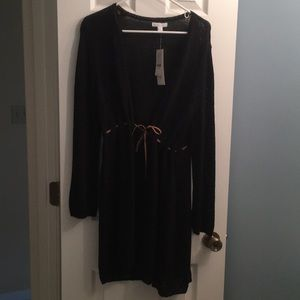 NWT New York and Company long black sweater!